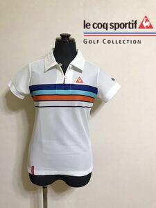 le coq sportif GOLF COLLECTION Smart Fit ルコック ゴルフ ウェア レディース ドライ ポロシャツ サイズM 半袖 白 QGL1866