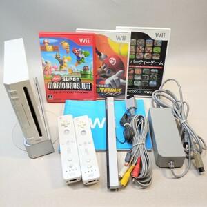 【任天堂】Wiiすぐ遊べるセット(スーパーマリオ・マリオテニス・パーティーゲーム