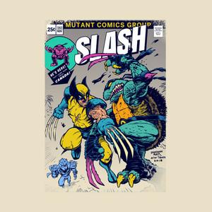 【Tシャツ】 『Slash vs Wolviw』 忍者 タートルズ ウルヴァリン S/M/L/XL/90/100/110/120/130/140/150/160
