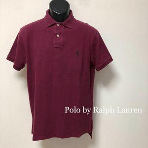 90s 【Polo by Ralph Lauren】CUSTOM FIT ラルフローレン メンズ M 海外輸入品 半袖 ポロシャツ トップス ワンポイント刺繍 USA古着