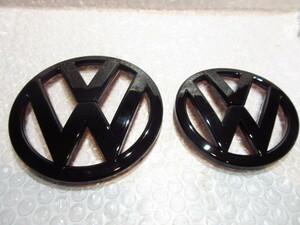VW シロッコ/Scirocco(13C) ピアノブラック・エンブレム/F&Rset【Import Parts】新品/グロス/