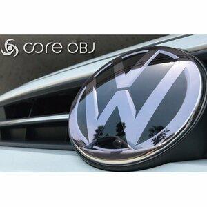 VW用 Fエンブレムプロテクター/スモーク ゴルフ7.5・トゥーラン(5T)【core OBJ】新品/CO-VEP-002/