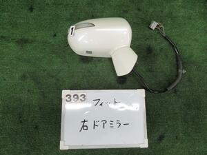 16244597 ホンダ フィット GD1 右ドアミラー 7ピン 電動格納 ウインカー付 NH624P ホワイト 244597