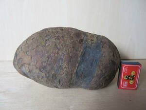 保管番40  安部川 鉄丸石 自然石 鑑賞石 天然石 21,5cm×11cm×10cm 5kg