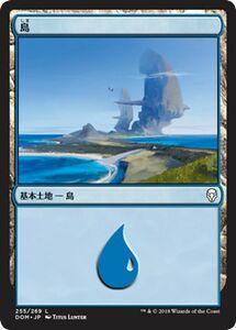 MTG 島 基本土地 マジック:ザ・ギャザリング ドミナリア DOM-255 同梱可