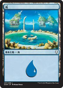 MTG 島 基本土地 マジック:ザ・ギャザリング ドミナリア DOM-257 同梱可