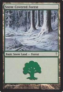 MTG マジック:ザ・ギャザリング 英語版 冠雪の森/Snow-Covered Forest C コールドスナップ CSP