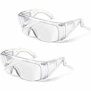 お得 2個セット ゴーグル コロナ対策 保護メガネ 透明 軽量 眼鏡着用可
