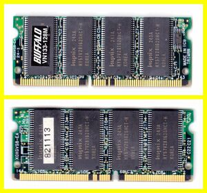 Note for memory PC133 128MB Buffalo SDRAM used
