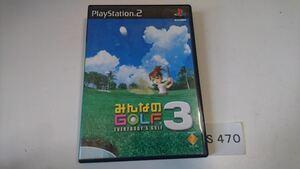 みんなのゴルフ 3 SONY PS 2 プレイステーション PlayStation プレステ 2 ゲーム ソフト 中古 みんゴル 3