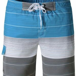 メンズ サーフパンツ ショーツ 水着 海水パンツ 海パン ゴムウエスト サーフショーツ 海水浴 プール 温泉 (サイズXL)