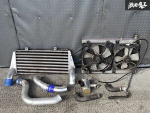 one-off FC3S RX-7 RX7 13B turbo V mount kit intercooler radiator electric fan piping collector tanker attaching