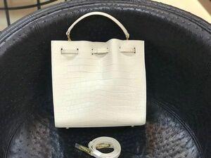 クロコダイル 本革 レザー 腹部センター レディース ハンドバッグ ワニ革保証トート 2way 斜め掛け 手提げ ショルダーバッグ 鞄 4色選べ