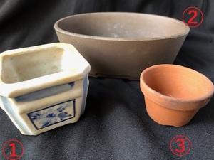 植木鉢 鉢 盆栽 盆栽鉢 ガーデニング 浅型  陶磁器 陶器 フラワーポット 正方形 楕円形 丸型 3個セット ミニサイズ