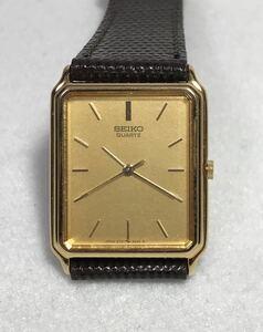 SEIKO セイコー QUARTZ クオーツ ゴールド基調 メンズ腕時計 超薄型タイプ ジャンク品