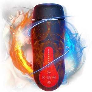 オナホール【全自動でその振動 +10種類震動モード+加温機能+真人セックス喘ぎ声 】電動オナホール 非貫通 完全防水 USB充電式