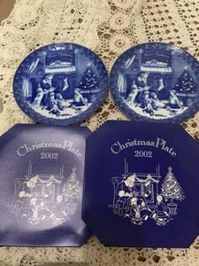 新品 未使用 福袋 4枚セットまとめて 非売品 レトロ お皿 食器 ケンタッキー クリスマスプレート 2002年 KFC 激安 必見 レア