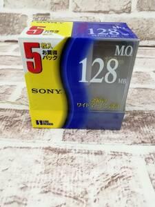 電506-307♪【60】未使用品!SONY MOディスク 128MB 5枚組
