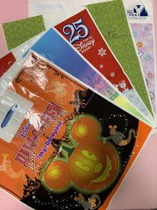 送料込み ディズニー ショップ袋 大 Lサイズ 5種各2枚 計10枚 クリスマス・アラカルト・周年、他 お土産袋 ディズニーリゾート TDR