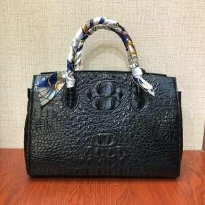 【激安】天然ワニ革 クロコダイルレザー ハンドバッグ 手提げ トートバッグ 書類かばん レディース 本革 鞄 ファッション 大容量 綺麗