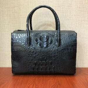【逸品】クロコダイルレザー 天然ワニ革 ブリーフケース ハンドバッグ ビジネスバッグ トートバッグ メンズ 本革 通勤 鞄 手提げ 高級