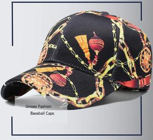 x094  ランタンチェーンプリント   野球キャップ 綿コットン素材 プリント柄野球帽 男女兼用