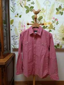 Eddie Bauer エディー・バウアー 桜色の長袖シャツMサイズ