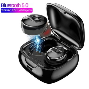 Tws ワイヤレスヘッドフォン 5.0 真 bluetooth IPX5 防水スポーツイヤホン 3D ステレオサウンドイヤホンと充電ボックス