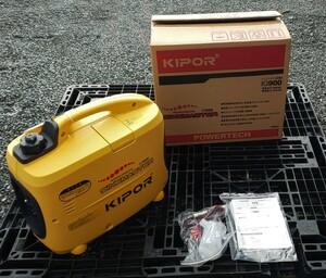 数量限定特価 パワーテック KIPOR ガソリンエンジンインバーター発電機 IG900 試運転済み展示品