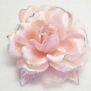 コサージュ 21J01 ピンク ラメ付き薔薇