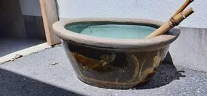 激レア 陶器 水鉢 水槽 亀 メダカ 庭 ガーデニング