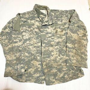 米軍放出品 実物 acu デジタル迷彩 ジャケット S/S 上着 ジャンク
