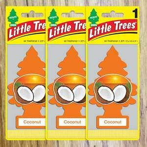 Little Tree リトルツリー Coconut ココナッツ 3枚セット エアフレッシュナー 消臭 芳香剤 インテリア アメリカン雑貨