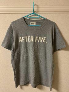 ローファッジ RAW FUDGE Tシャツ カットソー 半袖 トップス プリント クルーネック 丸首 グレー M