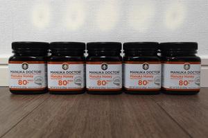 Manukadoctor Manuka Honey MGO 80+ (old bioactive 24+) 250 grams 5 pieces