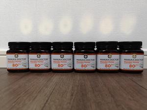 Manukadoctor Manuka Honey MGO 80+ (old bioactive 24+) 250 grams 6 pieces