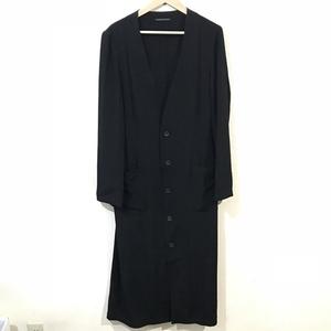 Yohji Yamamoto POUR HOMME ヨウジヤマモトプールオム HN-D19-500 ノーカラー コート ロングシャツ ブラック 1