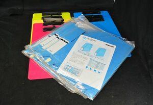未使用 カラークリップボ-ド A4 8個 KOKUYOファイルボックス A4 5枚 クリップファイル ワ-ドパッド ファイルバインダ- A4 タテ型