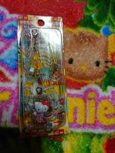 大阪限定 天下の台所 おかん キティ 二つ折り携帯ストラップ 2005 お好み焼き