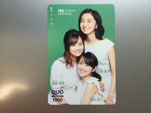 ★TBS・株主優待★TBSアナウンサー クオカード 新品 未使用 1000円