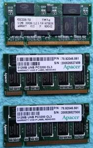 * memory DDR SDRAM 512MB 3 pieces set operation not yet verification junk treatment