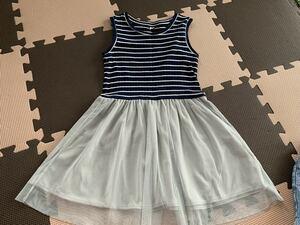 120 ユニクロ UNIQLO ワンピース スカート 子供 キッズ 女の子 半袖 夏 服 セットアップ