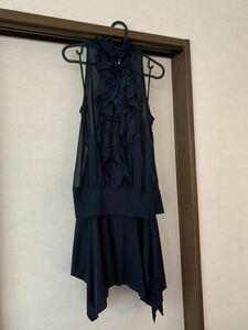 3点セット ドレス ウエディング おしゃれ かわいい 正装 結婚式 パーティー 二次会 謝恩会 ワンピース スカート フォーマル ネイビー