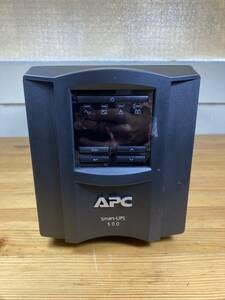 APC 無停電電源装置 Smart-UPS 500 LCDディスプレイ SMT500J 18年 バッテリー充電OK★保証有(管理ID:2883)
