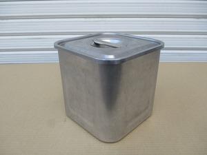 y0-2307 業務用 ステンレス角ポット 15cm W160×D160×H150 中古 厨房