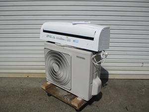 y1561-3 アイリスオーヤマ㈱ アイリスルームエアコンディショナー  室内機IRR-2218C+室外機IUF-2218 2018年製 100V 中古 厨房