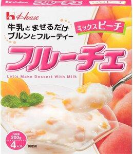 【ハウス食品】 フルーチェ ミックスピーチ 200g 5入り
