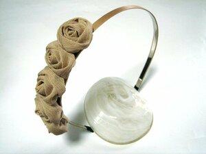 Small Sunkipon Rose Festone Katisha Beige New · Handmade