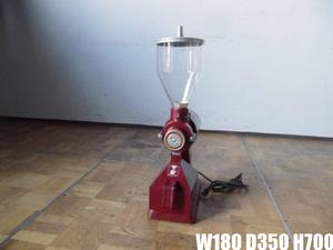 中古厨房 Lucky ラッキー 業務用 電動 コーヒーミル グラインダー レッド LM-400 100V コーヒー豆 喫茶店 カフェ W180×D350×H700mm