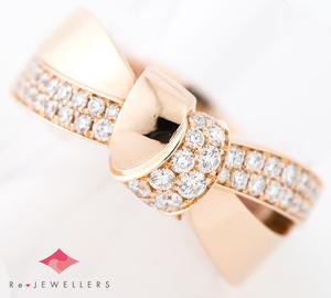 ショーメ リアン・セデュクシオン ダイヤモンド 18金ピンクゴールド 16号 リング・指輪【中古】